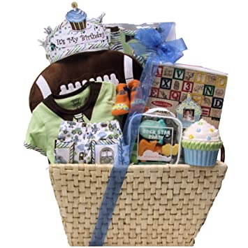 Image Unavailable Not Available For Color Great Arrivals Baby Birthday Gift Basket Babys 1st Boy Large