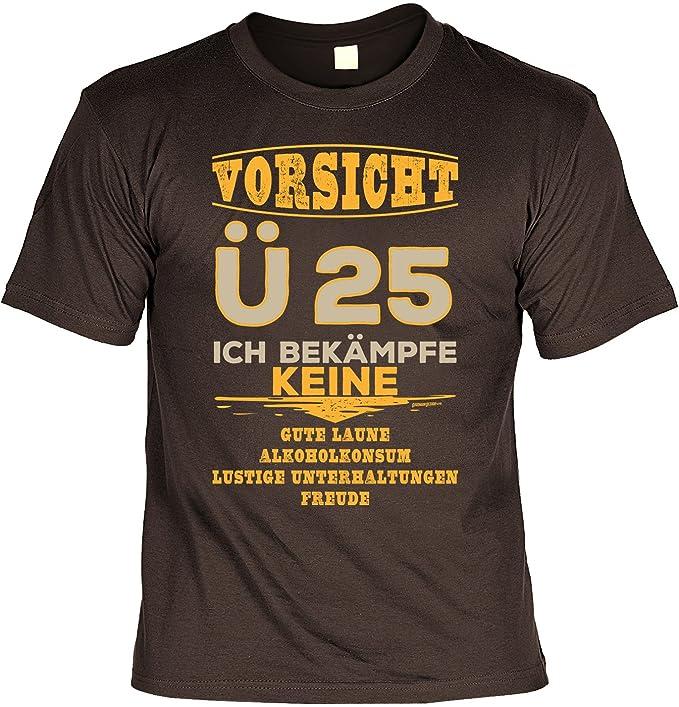 Vorsicht U25 25 Jahre Geburtstag Herren T Shirt Geschenke Idee