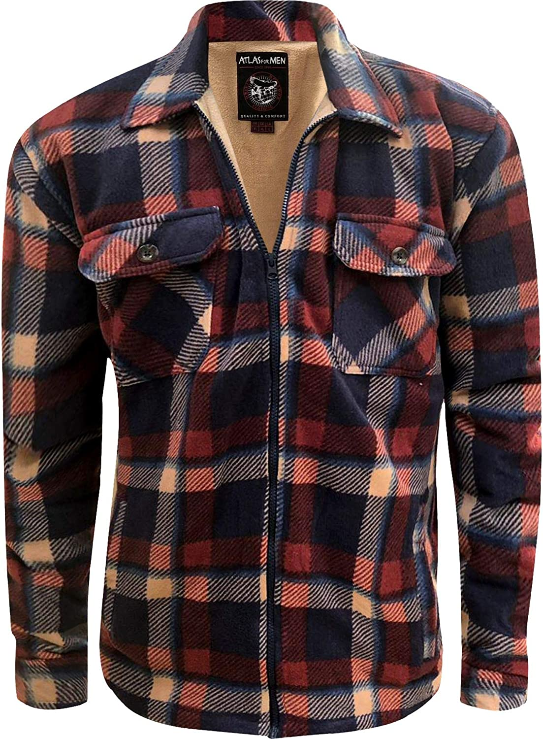 NEW MENS THICK PADDED SHIRT LINED LUMBERJACK FLANNEL WORK JACKET WARM CASUAL TOP