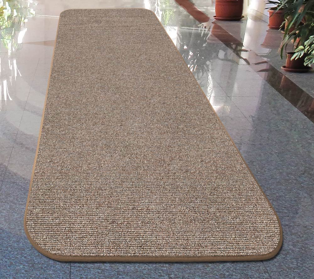 Pebble Beige 4 Ft House - Many Other Sizes to Choose From COMINHKR039794 Home and More Skid-resistant Carpet Runner X 27 In