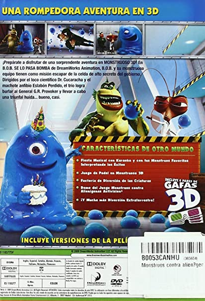 Amazon.com: Monstruos Contra Alienígenas E.E. (Import Movie ...