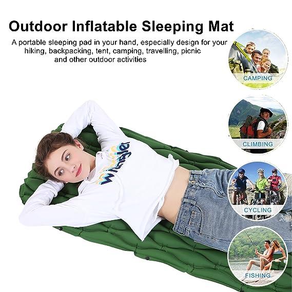 beautrip al aire libre Ultraligero 40d nailon Tpu hinchable dormir almohadilla alfombrillas para senderismo mochila Camping Picnic de viaje - Newest ...