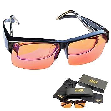 6f4903ddbde4 Blue Light Blocking Glasses - Fits Over Reading Glasses - Sleep Better at  Night - Orange