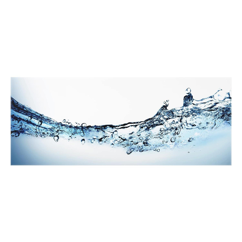 Bilderwelten Crédence en verre - Fizzy Water - Panorama, peinture murale revetement mural cuisine dosseret de cuisine impression sur verre fond de cuisine, Dimension: 40cm x 100cm PPS. Imaging GmbH