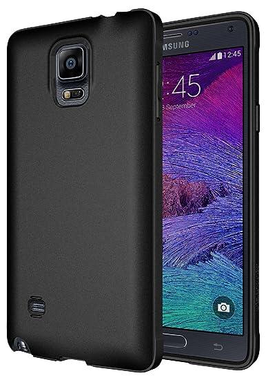 best service c853b 33afd Diztronic Full Matte Flexible TPU Case for Samsung Galaxy Note 4 - Retail  Packaging (Full Matte Black)