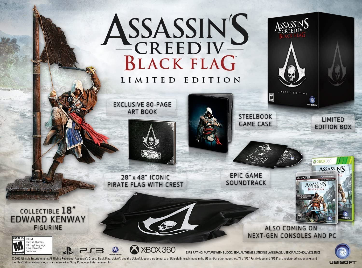 Assassins Creed IV: Black Flag - Limited Edition by Ubisoft: Amazon.es: Videojuegos
