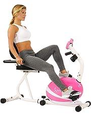 Sunny Health & Fitness P8400 Bicicleta de Ejercicio reclinable magnética, Capacidad de 220 Libras, monitoreo, monitoreo de frecuencia de Pulso
