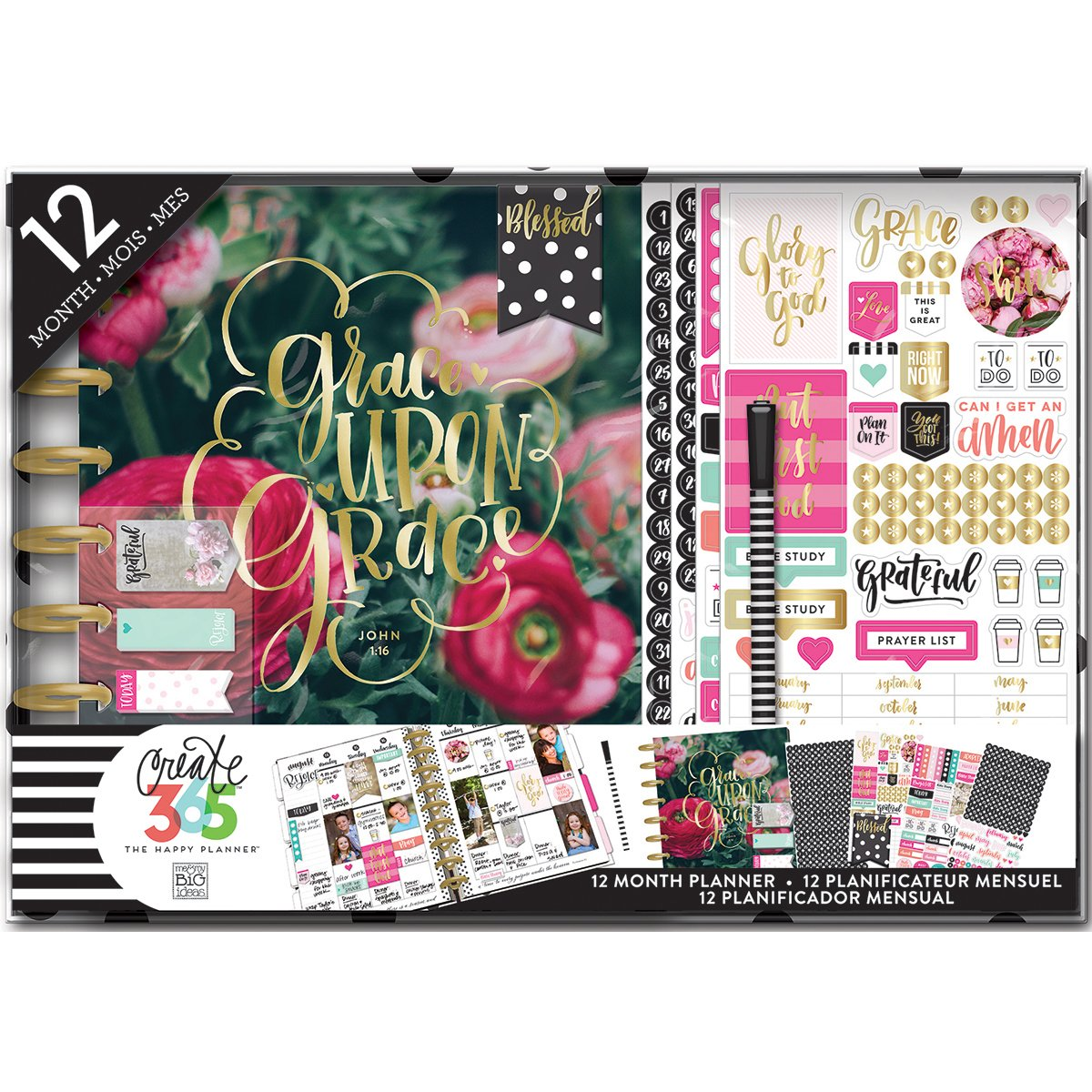 Me /& My Big Ideas Best Year Ever 12 Month Box Kit Multi-Colour,MMBBOX-109