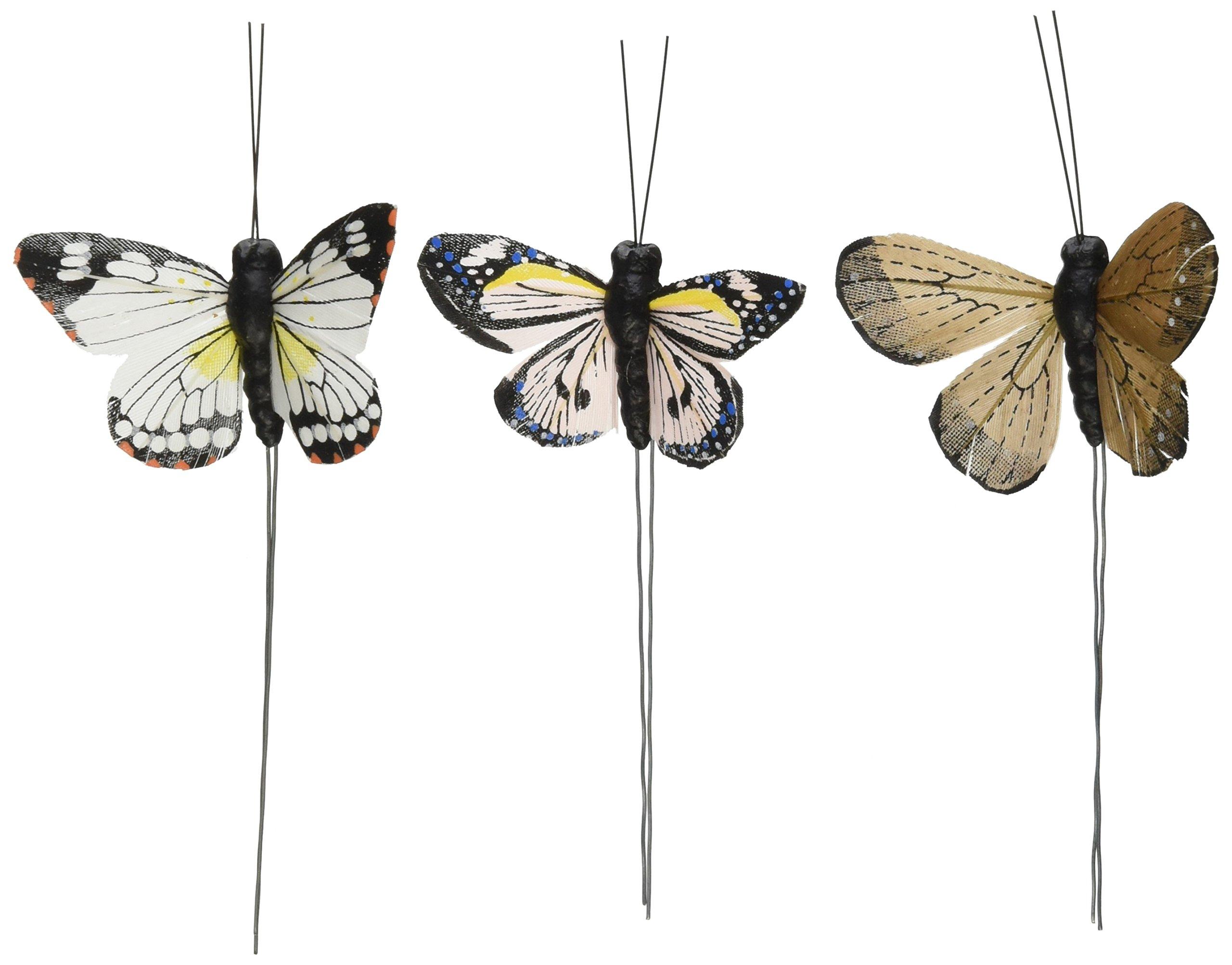 Beautiful Butterfly Decorative Set - Neutral