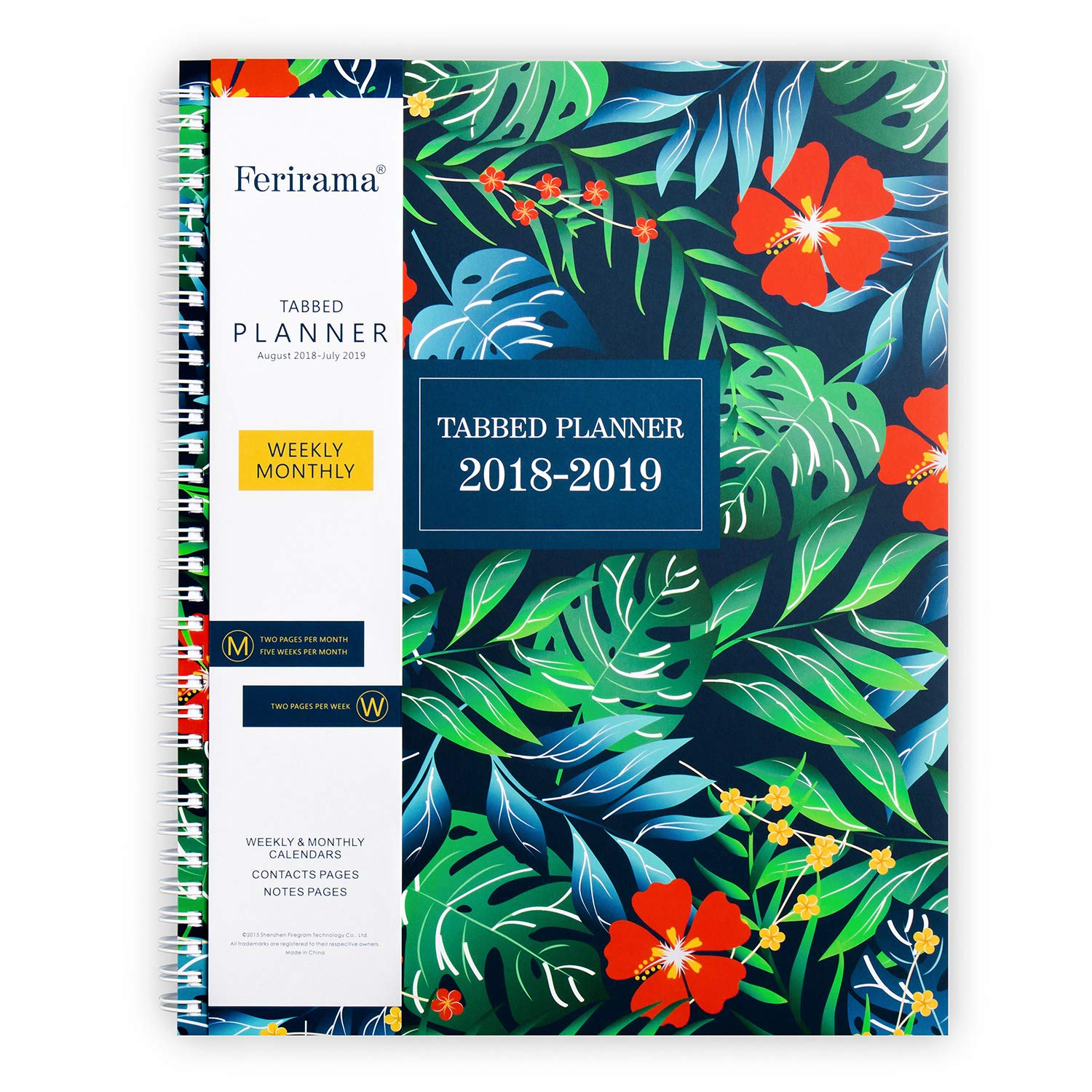 Monthly & Daily Academic Planner 8.5 x 11'' (Aug 2018– July 2019) Agenda Appointment Book for Teachers, High School College Students, with Note Pages