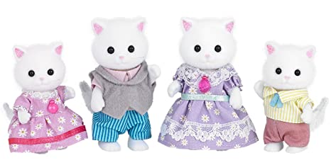SYLVANIAN FAMILIES Persian Cat Family Mini muñecas y Accesorios Epoch para Imaginar 5216