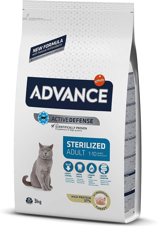 ADVANCE Pienso para Gatos Esterilizados Adultos con Pavo - 3Kg