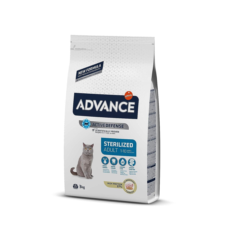 Advance Pienso para Gato Esterilizado Adulto con Pavo y Cebada - 3000 gr: Amazon.es: Productos para mascotas