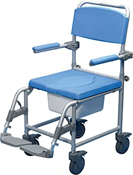 Patterson Medical Deluxe - Silla con ruedas para ducha con agujero ...