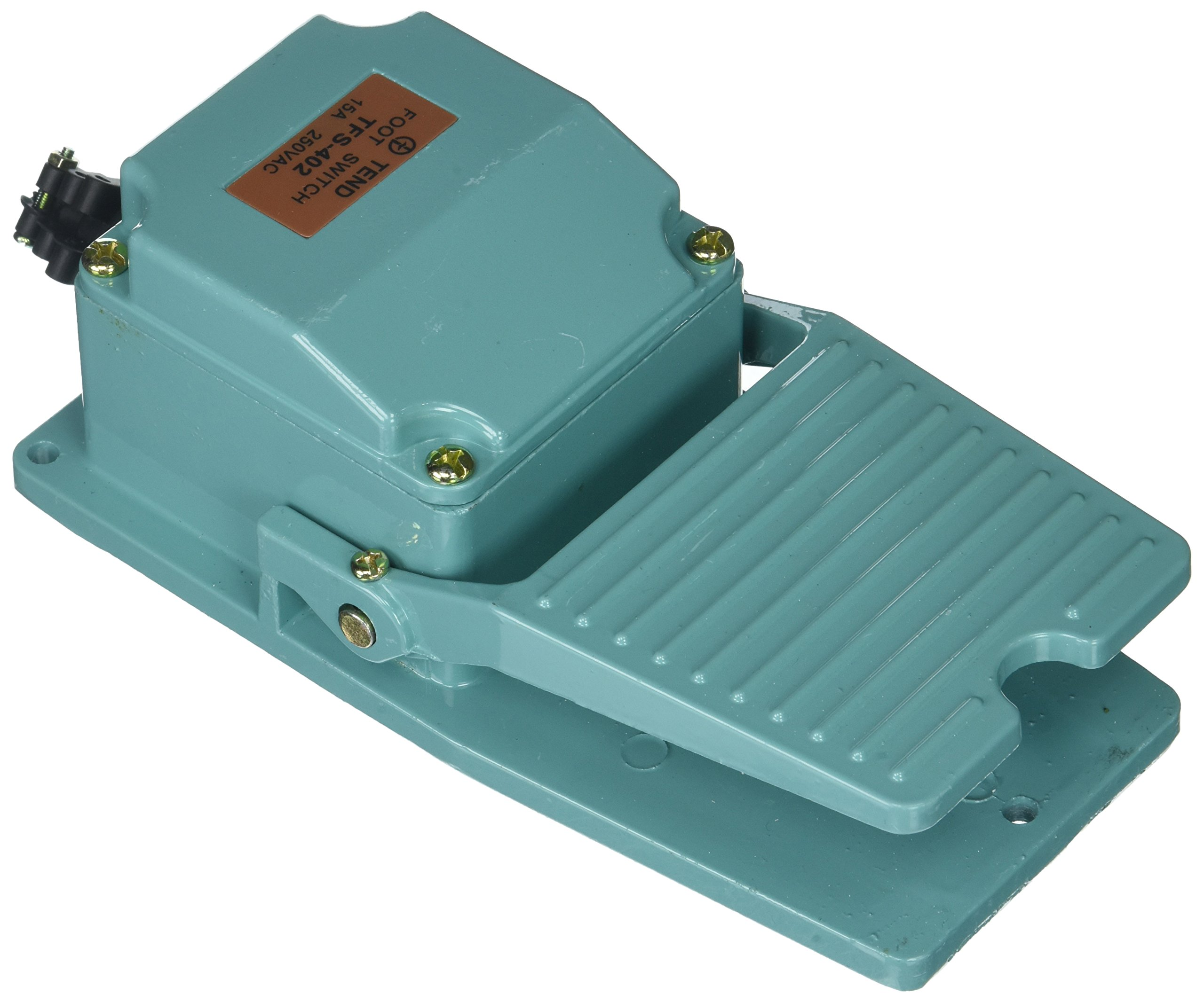 Uxcell AC 250V 15 Amp Antislip Momentary Industrial Foot Pedal Switch