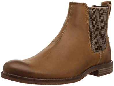 Rockport Men's Wynstin Chelsea Chelsea Boot, Tobacco, ...