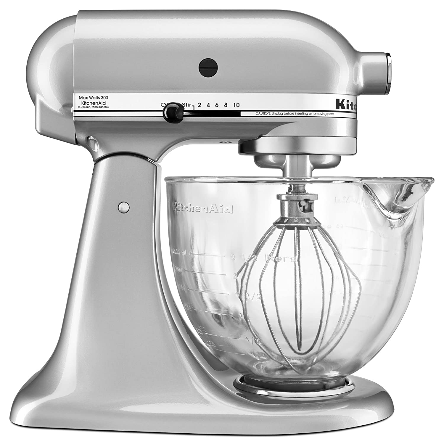 Lovely Amazon.com: KitchenAid KSM105GBCMC 5 Qt. Tilt Head Stand Mixer With Glass  Bowl And Flex Edge Beater   Metallic Chrome: Kitchen U0026 Dining