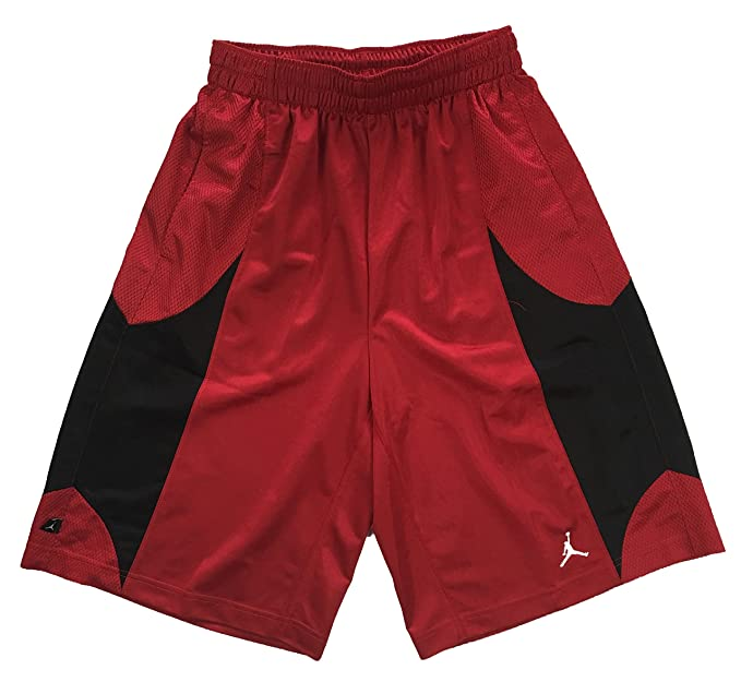398fca379690de Nike Air Jordan Mens Durasheen Jumpman Basketball Shorts Red Black (S)