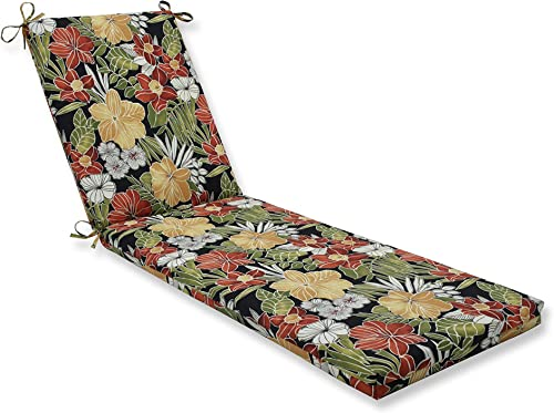 Pillow Perfect Outdoor/Indoor Clemens Noir Chaise Lounge Cushion