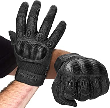 First Mfg Co Mens Basin Leather Motorcycle Gloves Black Small