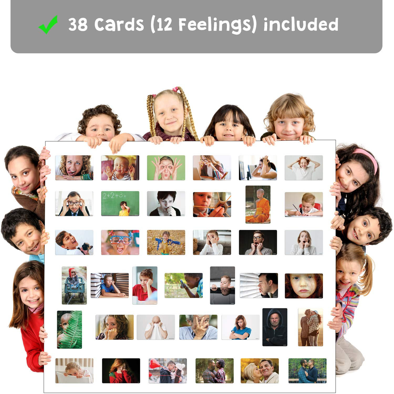 Parents Basic Emotions 1 - for Teachers Attractivia Magnetic Flash Cards 36 Large Feelings Cards Vol Therapists