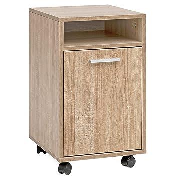 KS-Furniture WL5.929 Sonoma - Cajonera con Ruedas (33 x ...