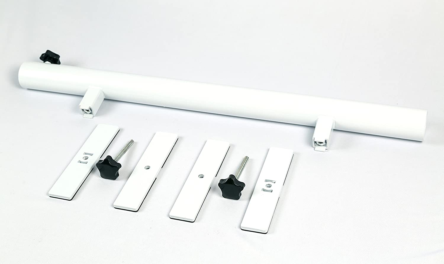 Patio Umbrella Holder Outdoor Umbrella Base and Mount Attaches to Railing Maximizing Patio Space and Shade White