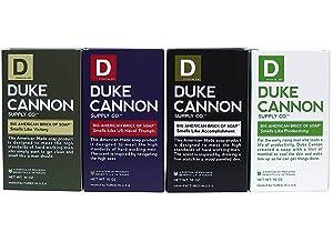 Duke Cannon Supply Co. - Big American Brick of Soap Variety Gift Set (4 Pack of 10 oz) Superior Grade Bar Soap Bundle Designed for Hardworking Men