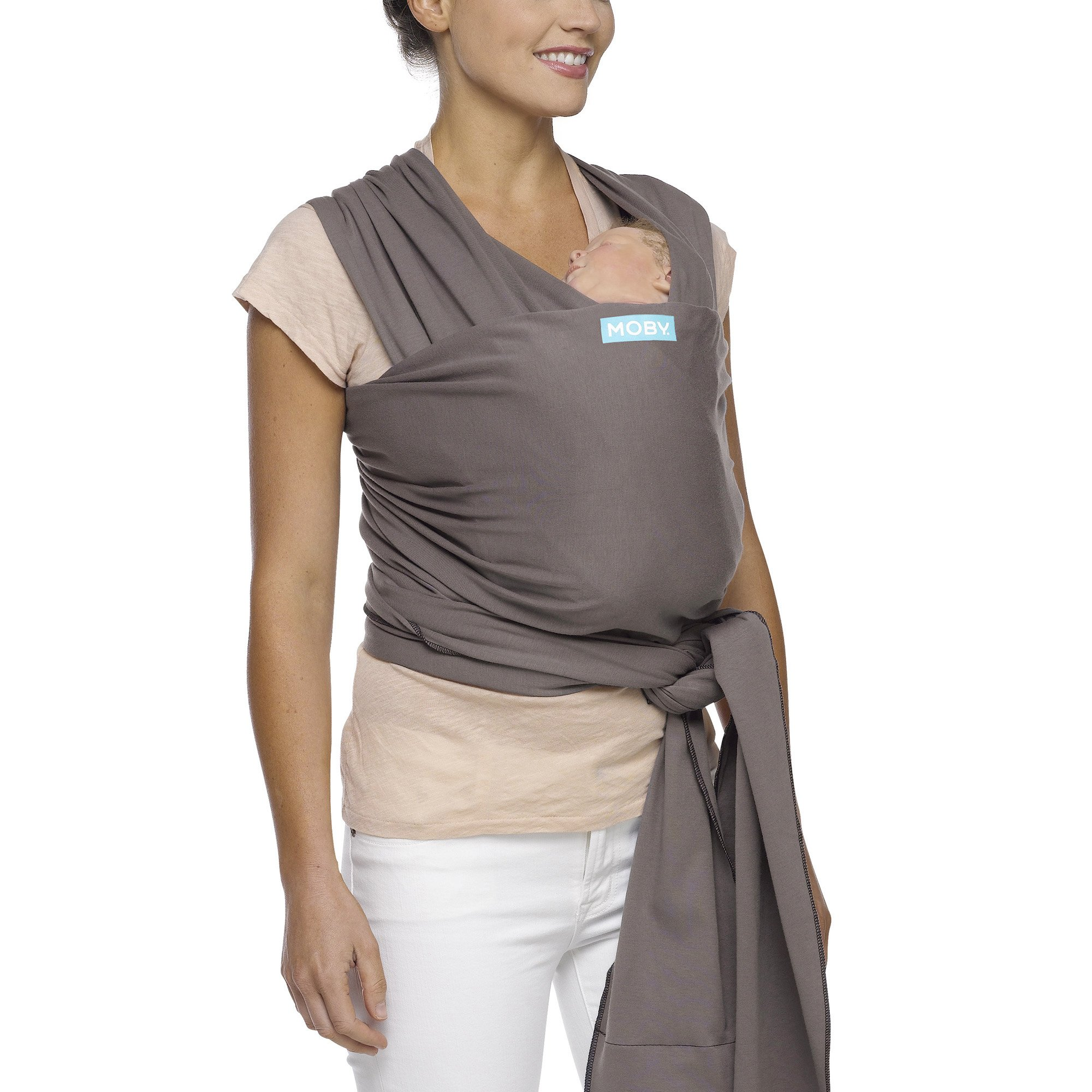 Moby Wrap Baby Carrier for Newborns + Toddlers Soft Baby Sling Baby Wrap, Ideal for Baby Wearing, Breastfeeding, and Keeping Baby Close - Slate