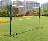 Sports God Portable Badminton Volleyball Tennis Net Set with Stand/Frame