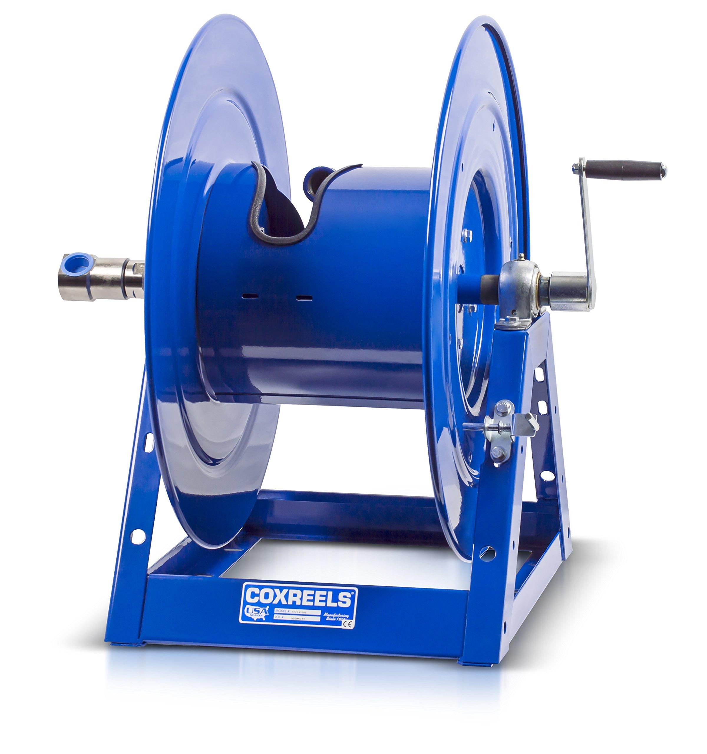 Coxreels 1175-6-100 Hand Crank Hose Reel: 1'' I.D, 100' hose capacity, less hose, 3000 PSI