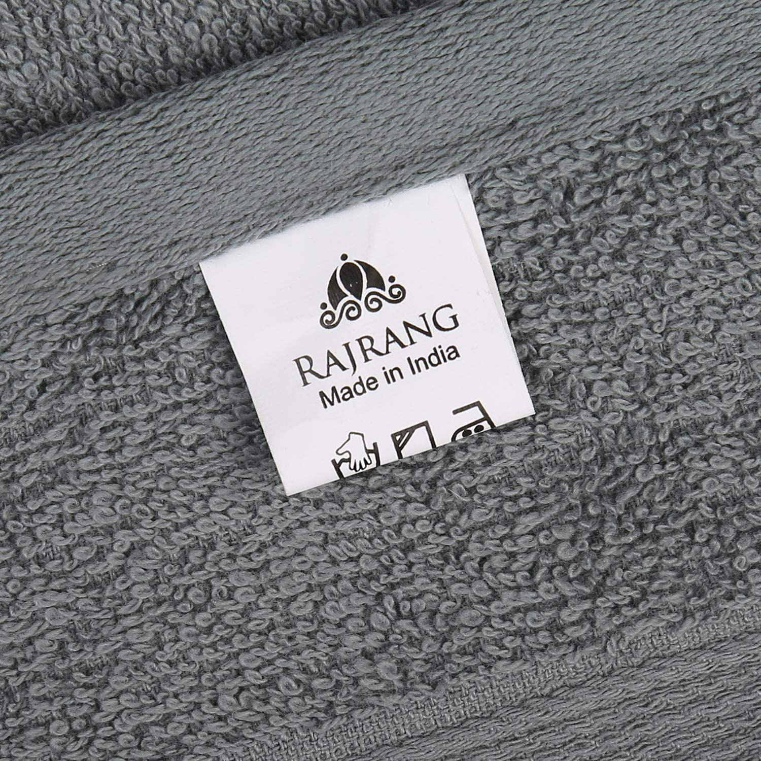 100/% Cotton Luxurious Daily Use Towels for Bathroom and Kitchen Gray Pack of 2 16x28 Inches Soft Extra Large Hand Towels