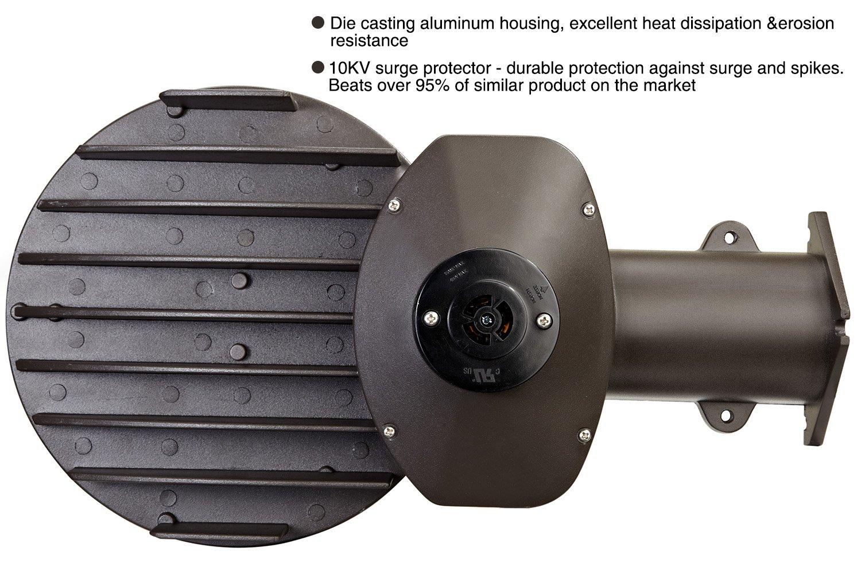 45 W/70 W, fotocélula Dusk to Dawn 100 W LED de luz Granero MH/175 W MH Equivalente, IP68 4900lm/6900lm exterior Soporte de pared noche luz de seguridad: ...