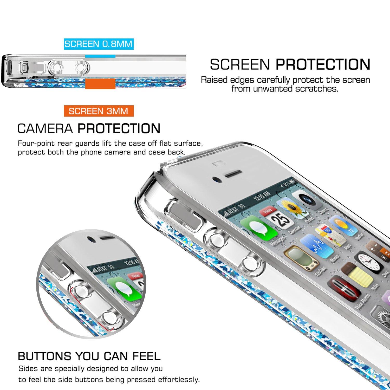 coque iphone 4 paillette liquide flottant
