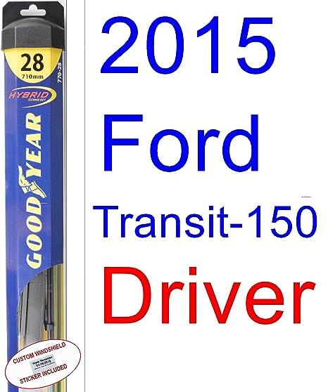 2015 Ford transit-150 XL hoja de limpiaparabrisas de repuesto Set/Kit (Goodyear