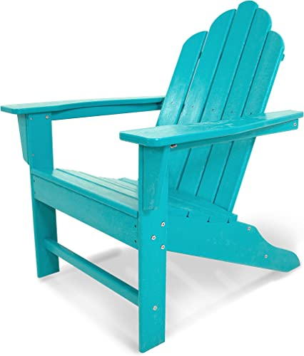 POLYWOOD ECA15AR Long Island Adirondack Chair, Aruba