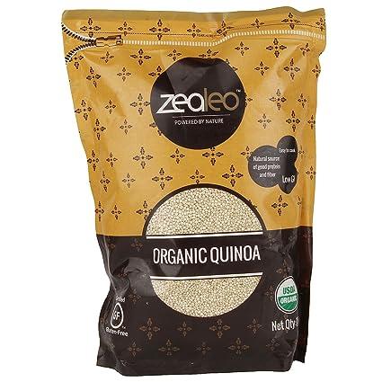 Zealeo Organic Quinoa, 1kg Quinoa at amazon