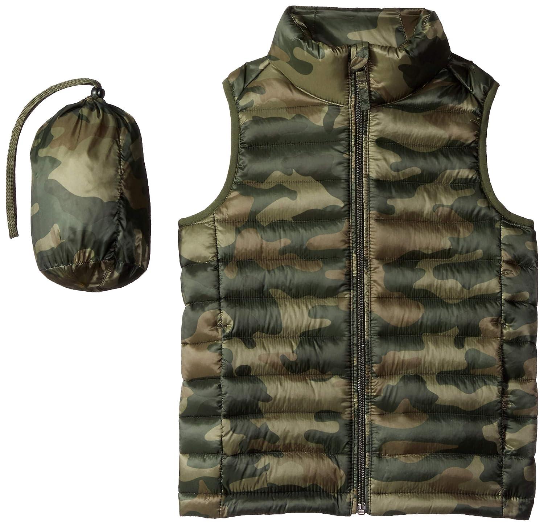 Amazon Essentials Boys' Lightweight Water Resistant Packable Puffer Vest