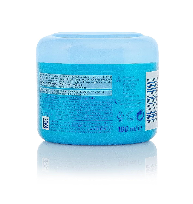 Penaten Pflegecreme Gesicht & Körper 100ml – Feuchtigkeitsspendende Creme für die tägliche Pflege empfindlicher Babyhaut (3 x 100ml) 88752