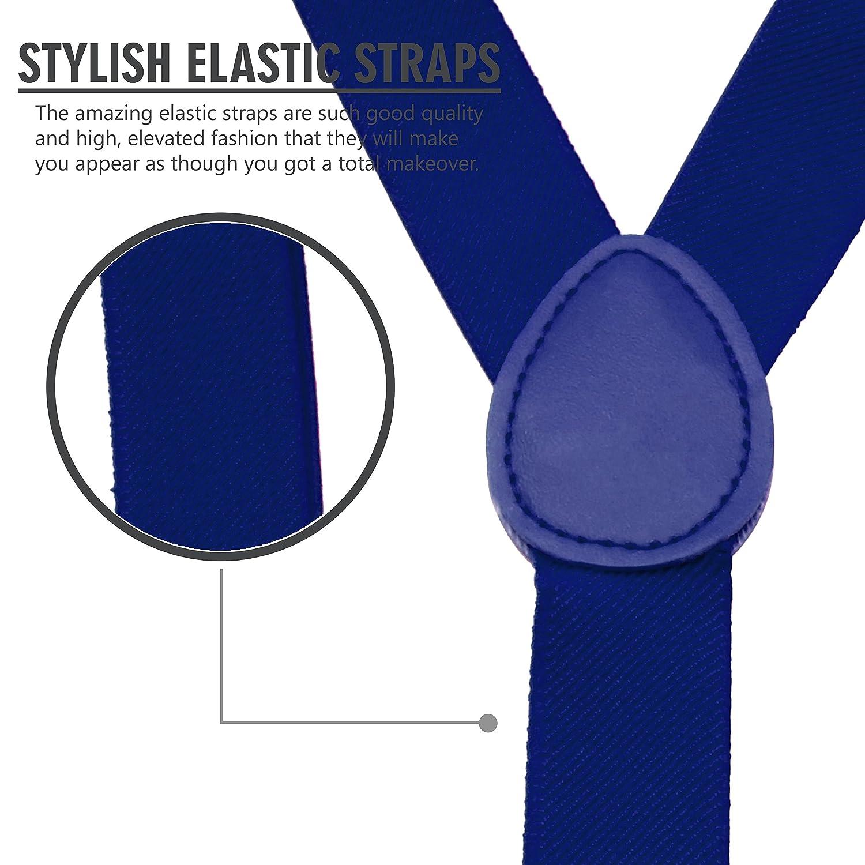 1 Width Adjustable Straps Stylish Y Back Style by SEEMAVI Mens Suspenders