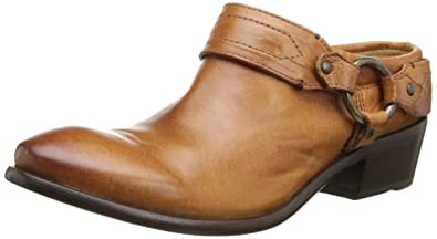 FRYE Women's Carson Clog, Cognac Washed Antique Pull-Up, ...