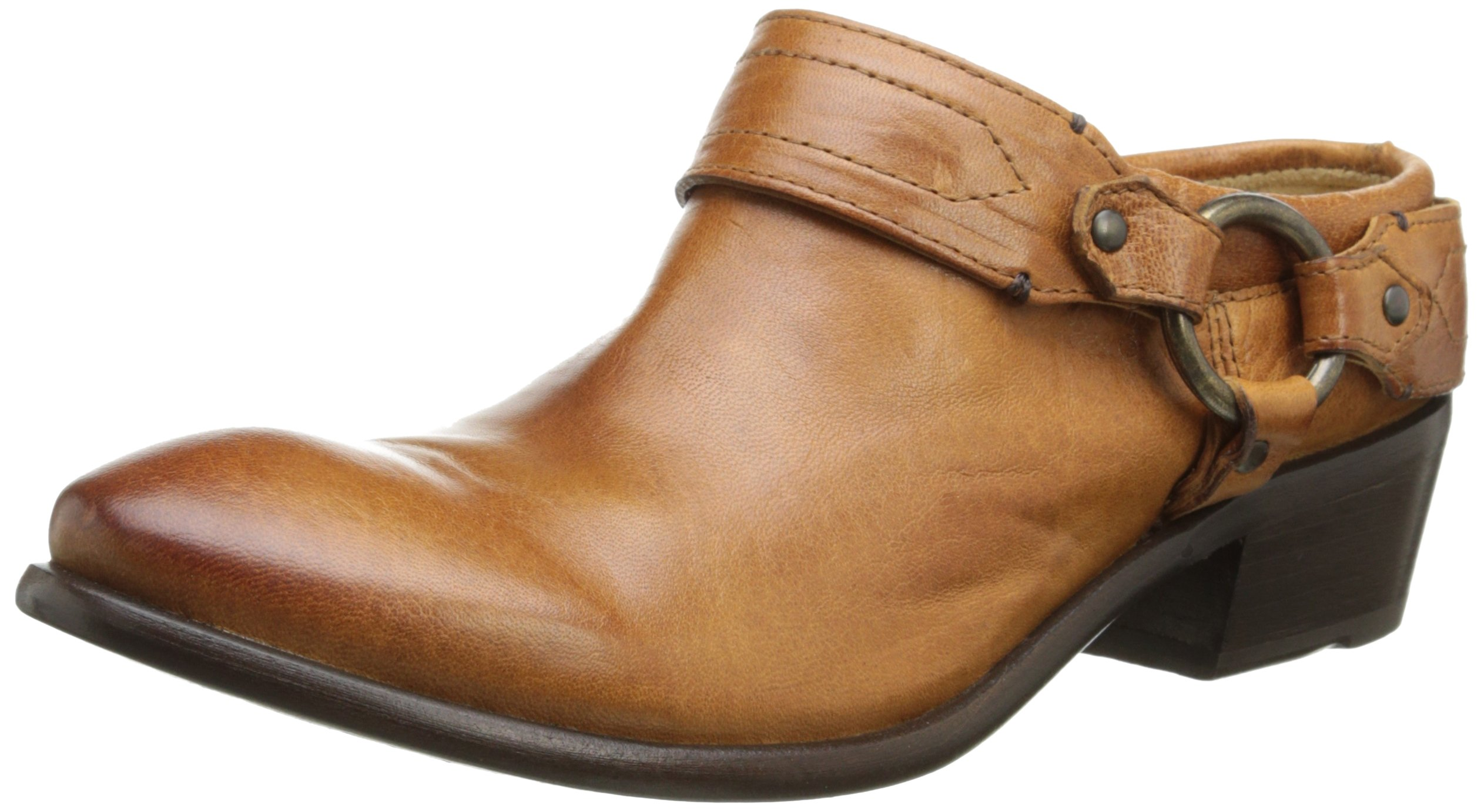 FRYE Women's Carson Clog, Cognac Washed Antique Pull-Up, 9 M US