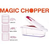 Onion Chopper - Vegetable Chopper, Veggie Dicer, Fruits Dicer with 3 Different Stainless Steel Blades and Storage Lid Included