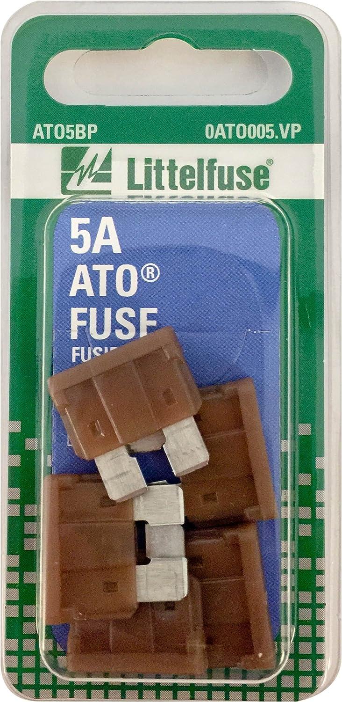6 Littelfuse 0ATO005.VP ATO 32 Volt 5A Carded Fuse,