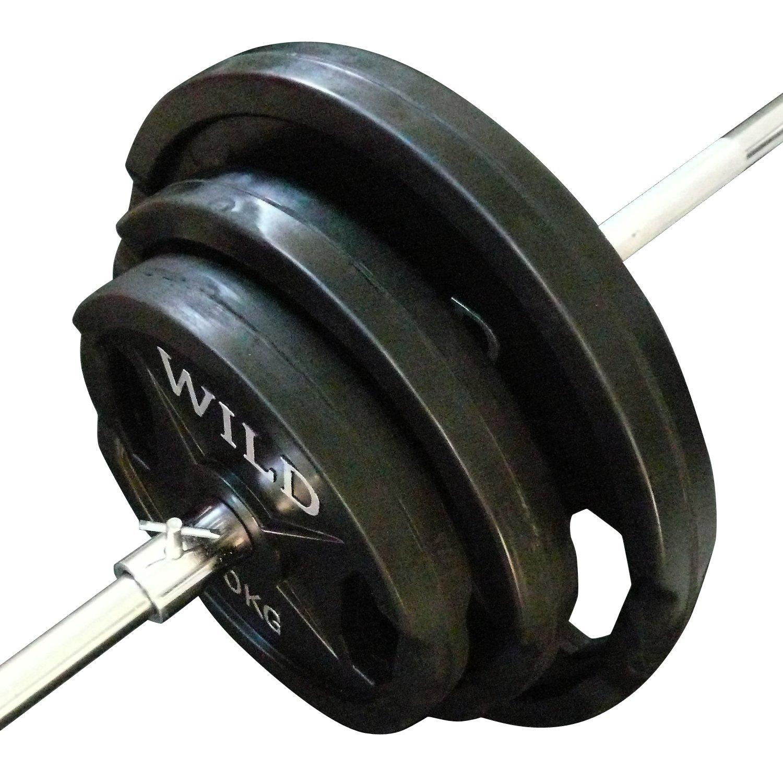 [WILD FIT ワイルドフィット]バーベルダンベルセット 黒ラバー30kg B0079DIHSI