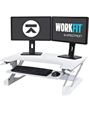Ergotron WorkFit-T Sit-Stand Desktop Workstation, White