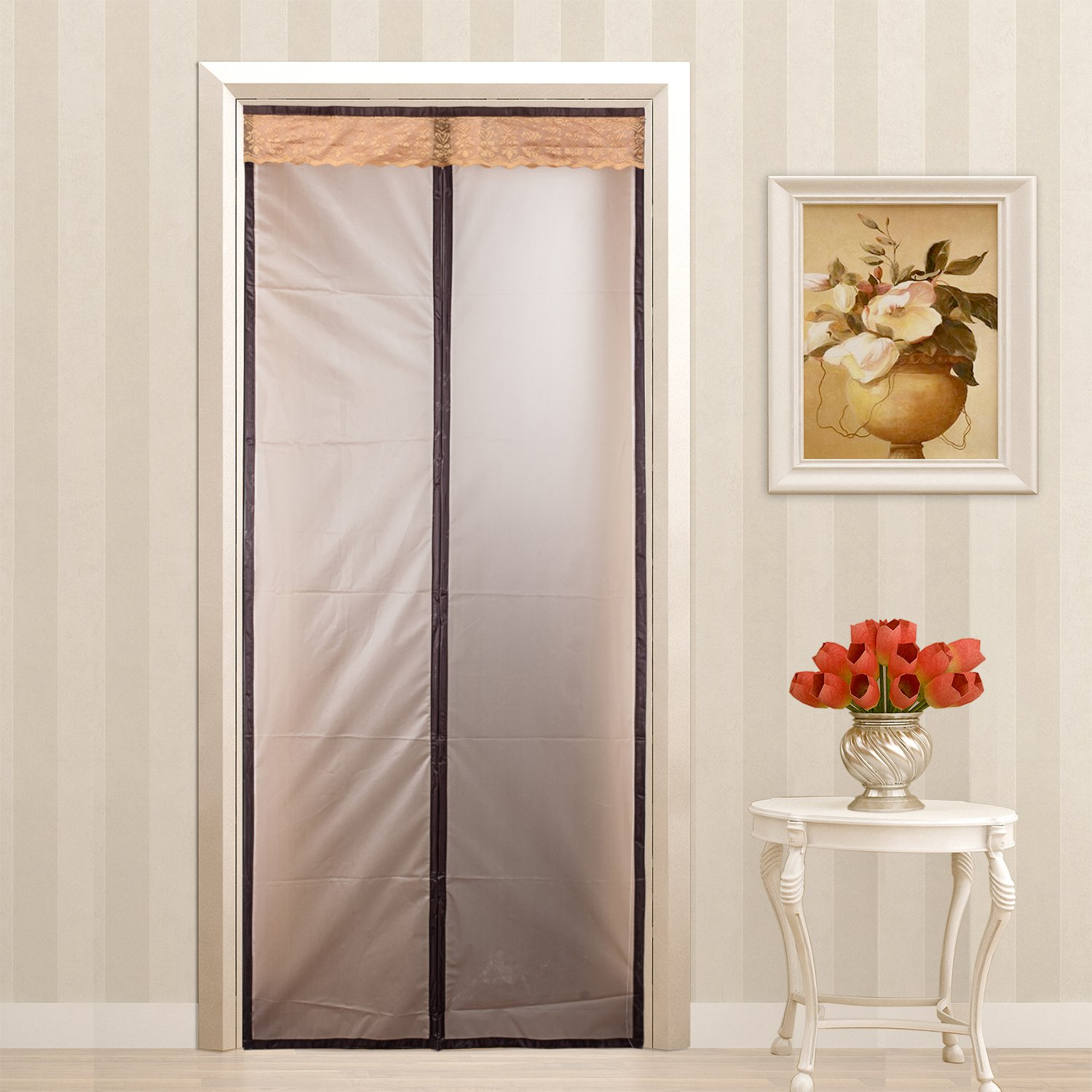 Magnetic Thermal Insulated Door Curtain Enjoy Your Cool Summer And Warm Winter With Saving You Money Door Curtain Auto Closer Fits Doors Up To 34\