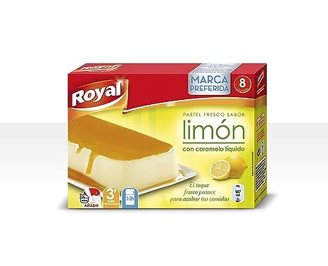 Royal - Pastel Instantaneo Sabor Limon con caramelo liquido, 103 g - [Pack de