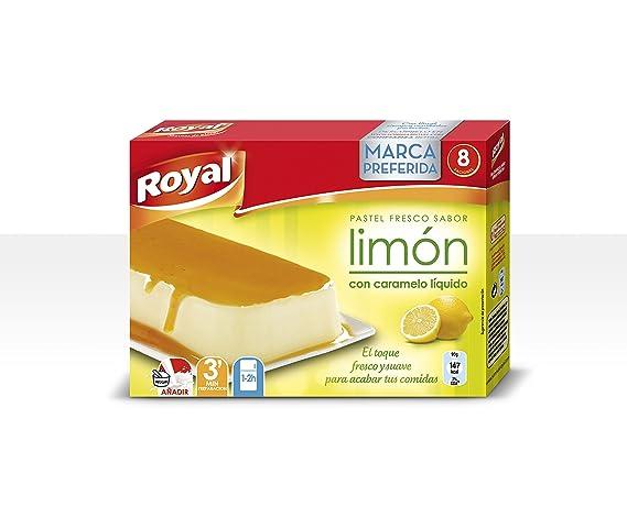 Royal - Pastel Instantaneo Sabor Limon con caramelo liquido, 103 g - [Pack de 12]: Amazon.es: Alimentación y bebidas