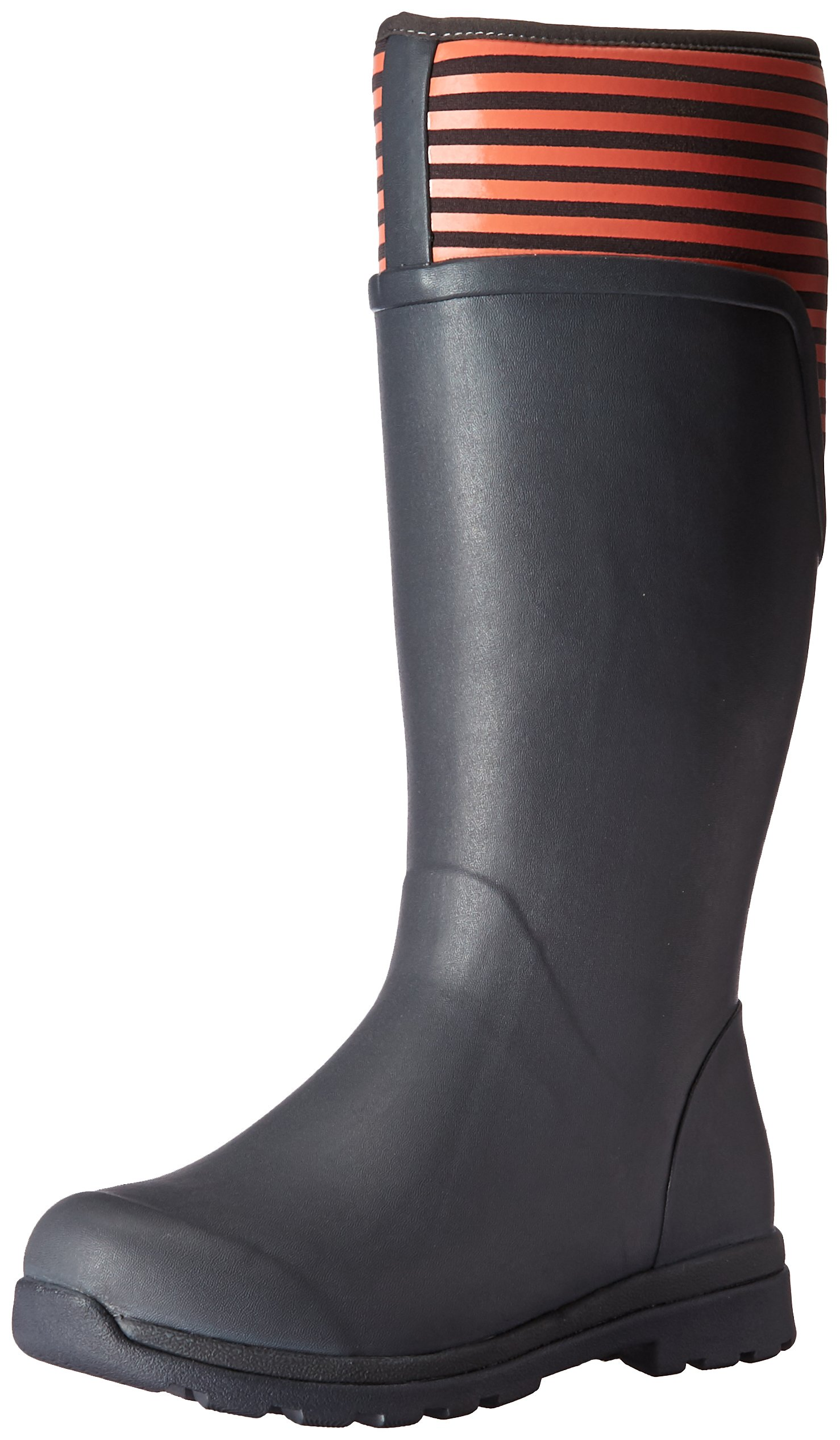 Muck Boot Women's Cambridge Tall Snow Boot, Gray With Coral Stripe, 8 B US